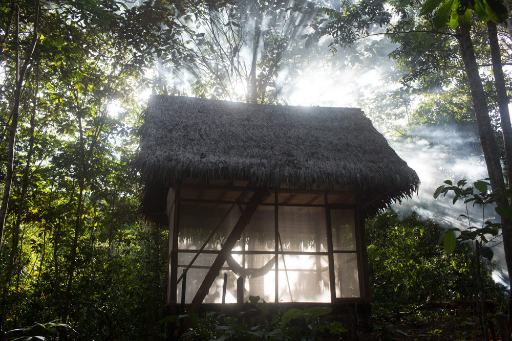 dieta hut on ayahuasca retreat in peru at psychonauta foundation tambo singiel person house