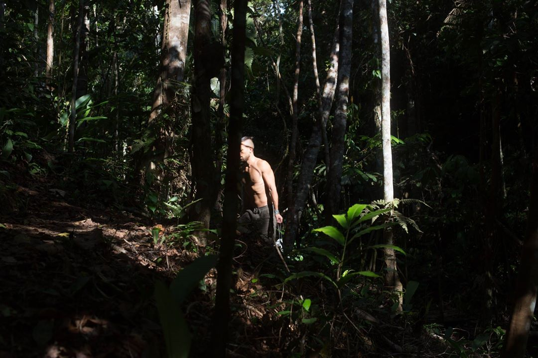 dieta participant walks in the Amazon forest