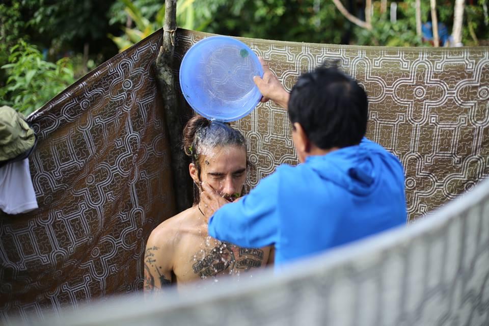 plant bath during dieta medicine, ayahuasca retreat peru