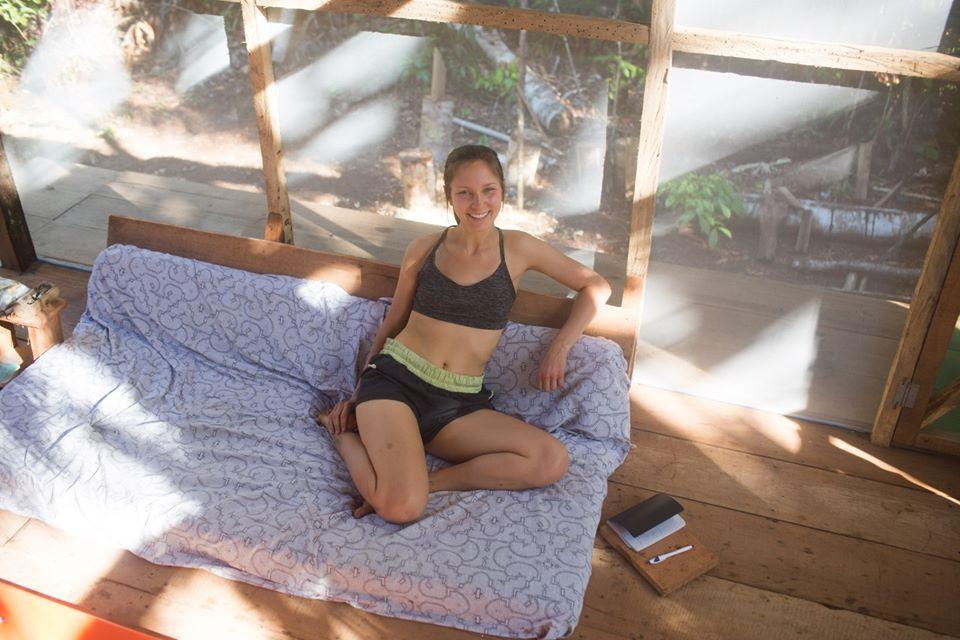 becca participant of ayahuasca retreat and master plant dieta in psychonauta foundation