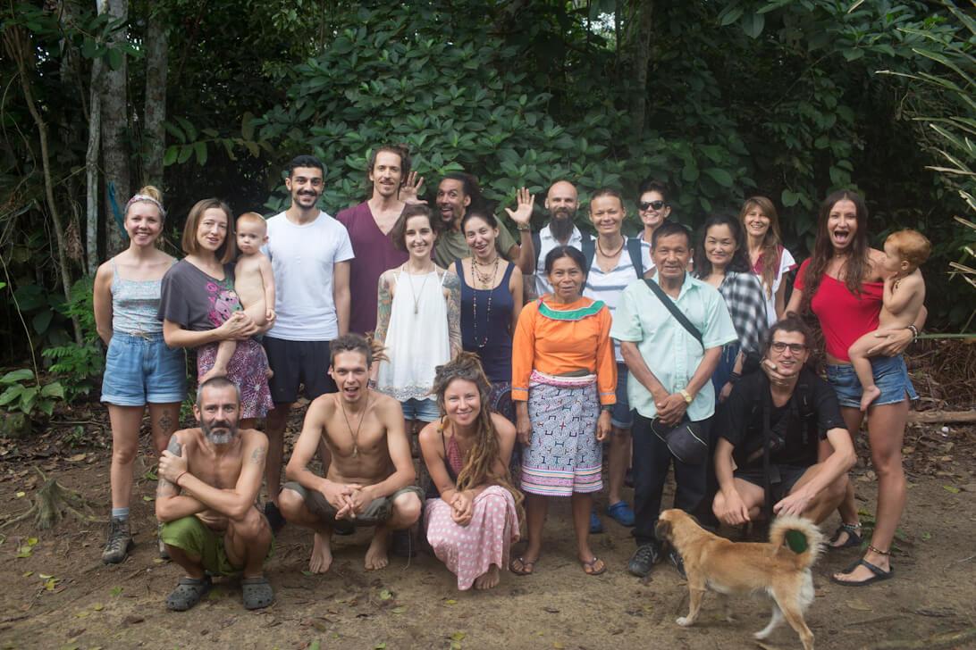 ayahuasca retreat peru group photo