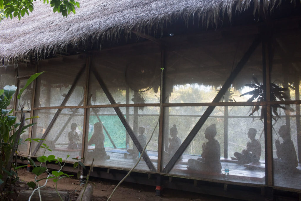meditation session in peru