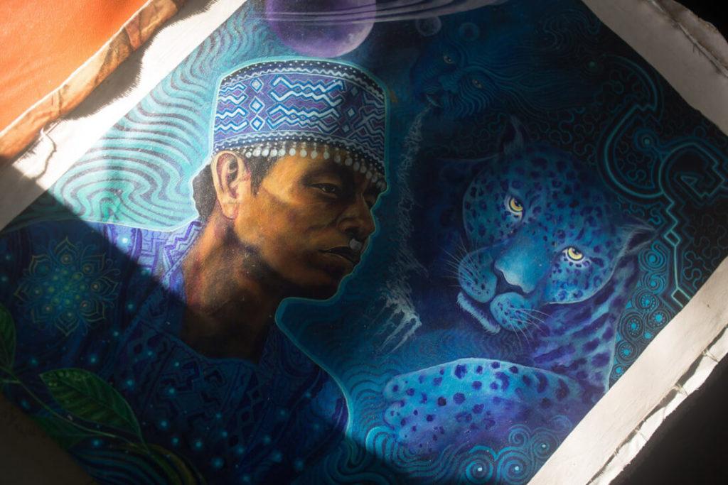 ayahuasca retreat peru art shipibo